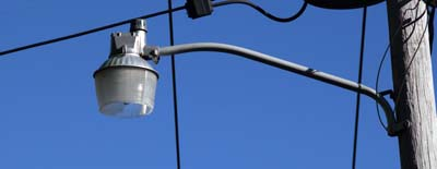 Mercury-vapor streetlight in Bar harbor