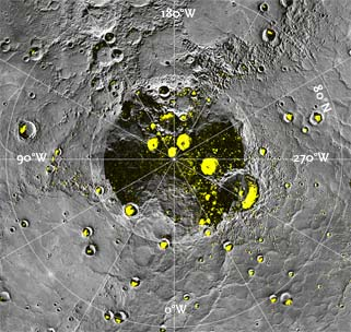 Radar-bright patches on Mercury