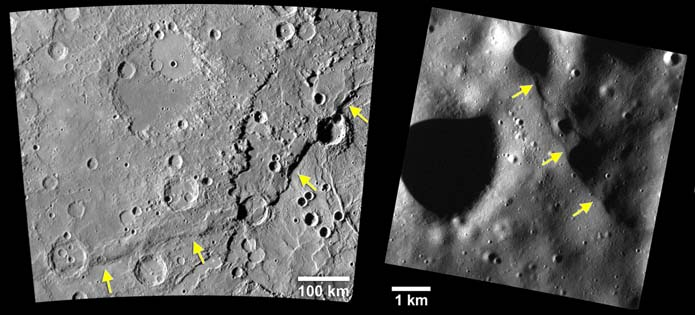 Mercury scarp comparison