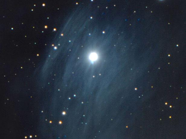 Cosmic Filaments Reflecting Merope's Light