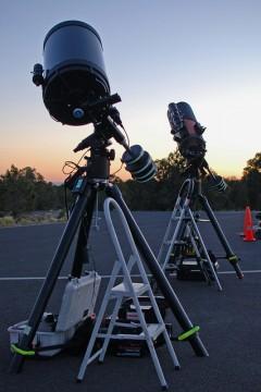Telescopes at the ready