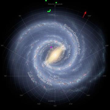Cepheids on Milky Way map