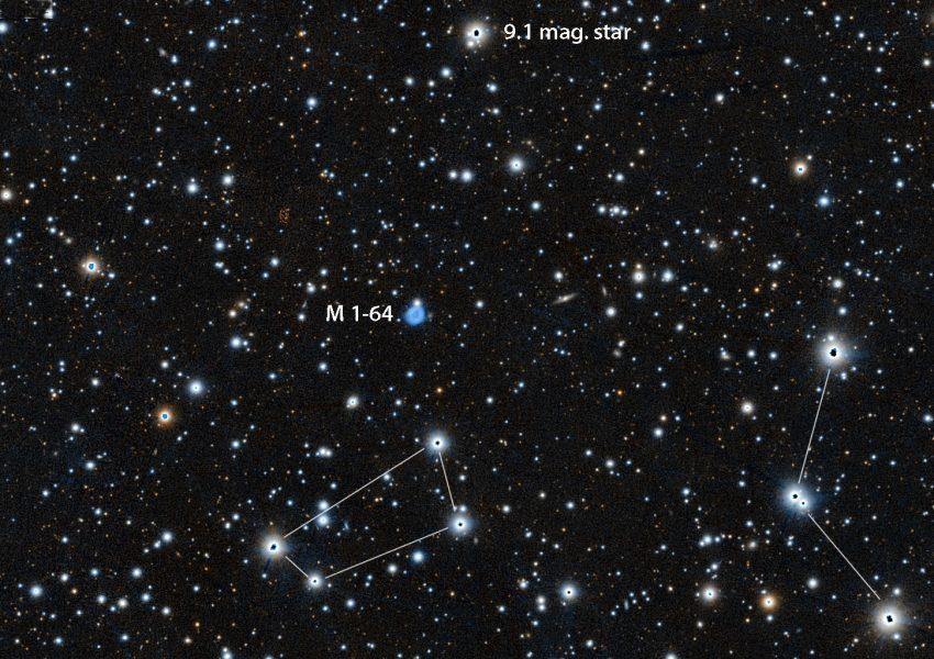 Minkowski 1-64 and asterisms