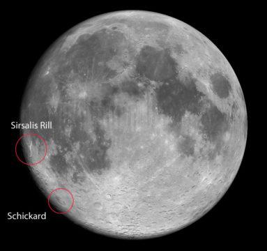 Edgewise lunar sunrise