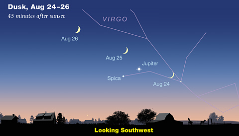 Moon and Jupiter in late August