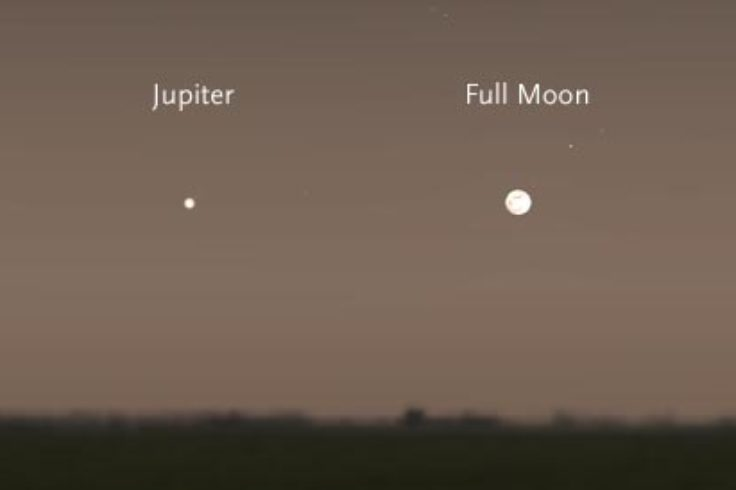 Moon and Jupiter on February 3rd