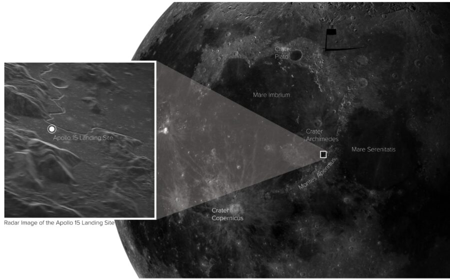 Apollo 15 landing site in context