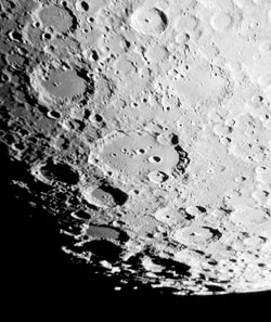 Moon facts: the Moon's southern highlands are densely covered with overlapping craters.