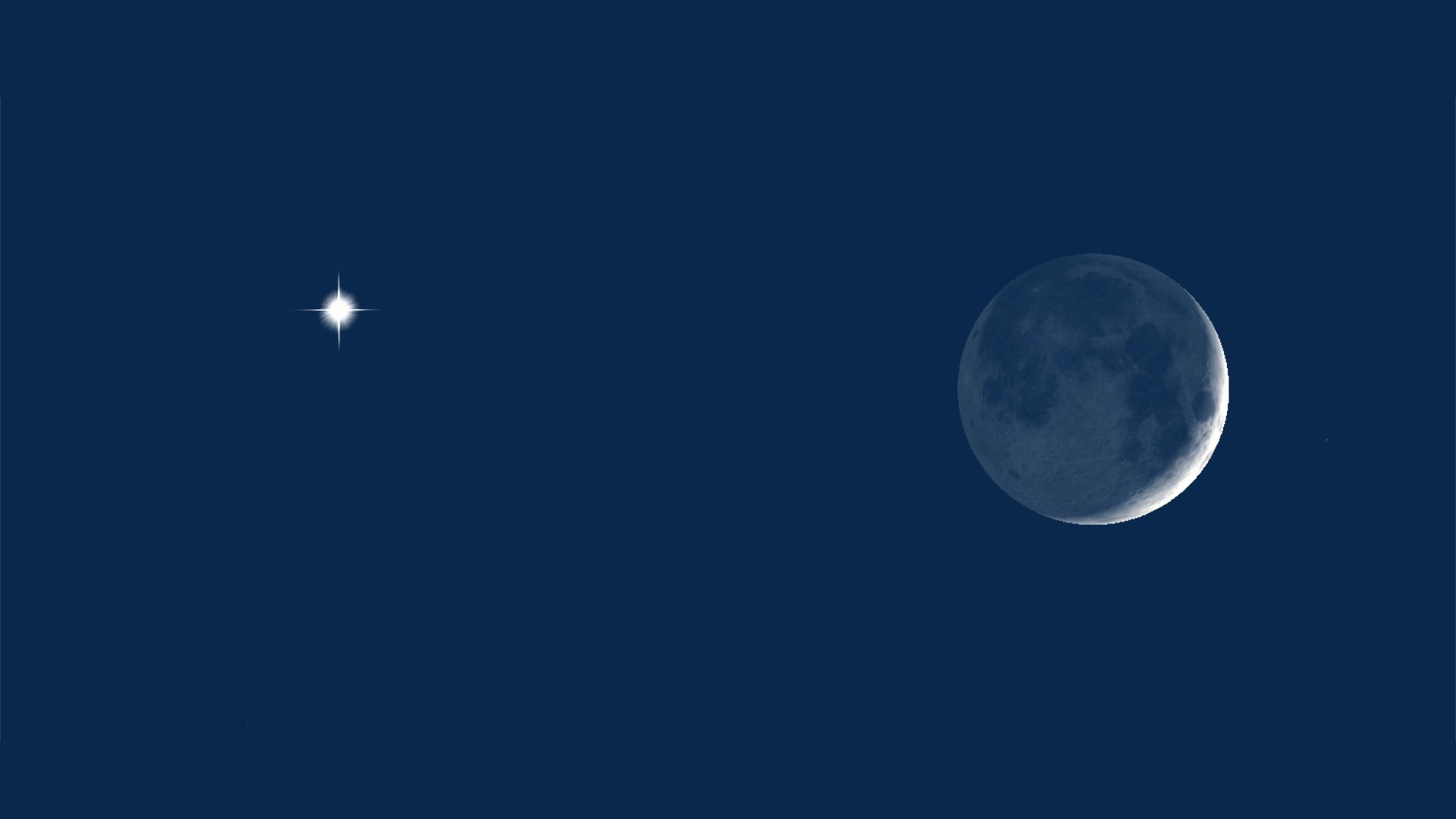 Venus & Moon at 10pm CDT