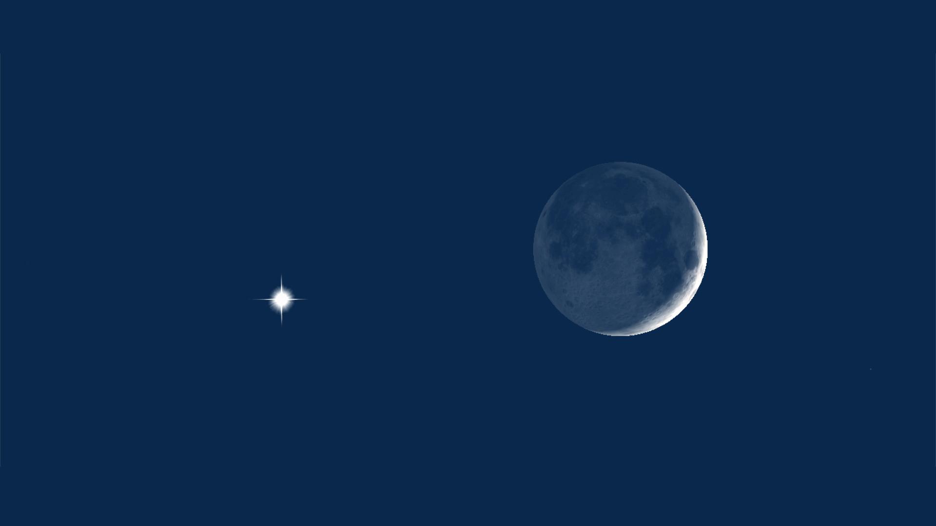 Venus and Moon at 10pm MDT