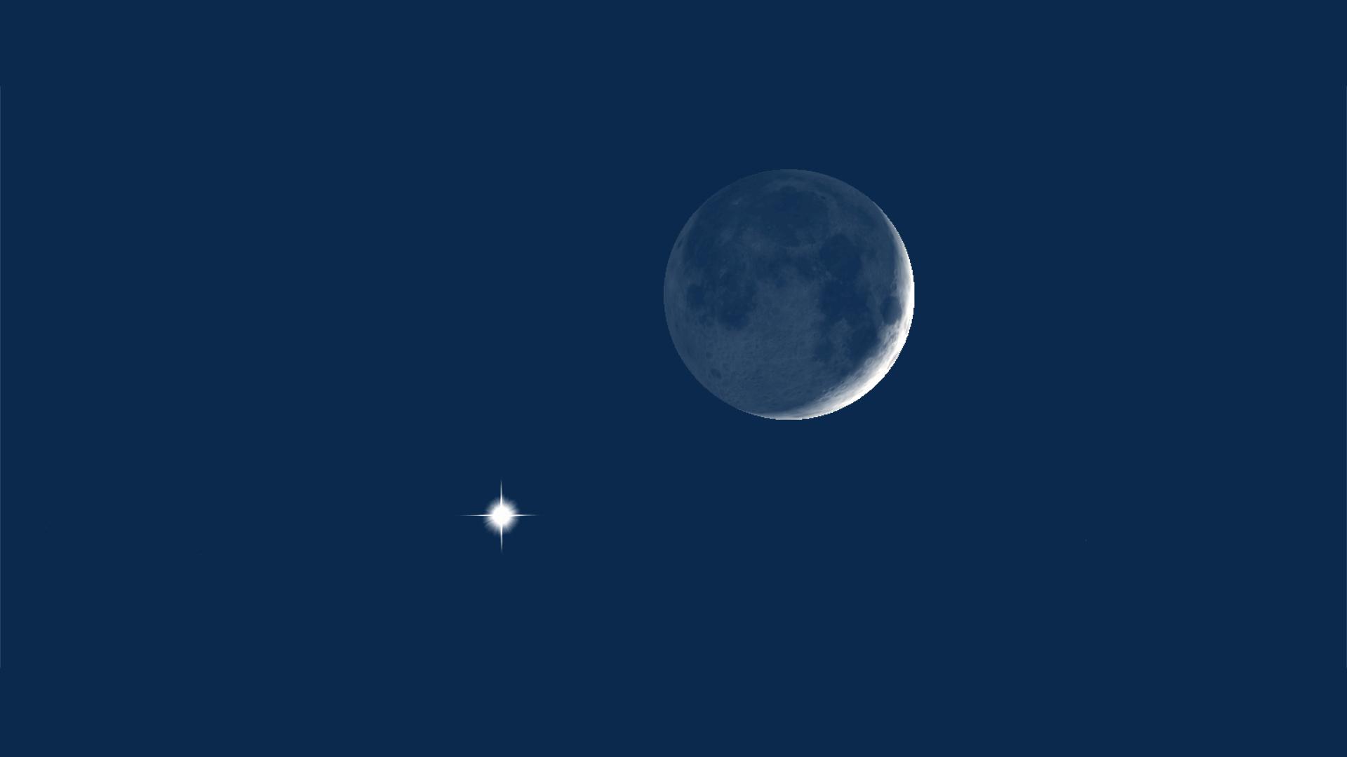 Venus & Moon at 10pm PDT