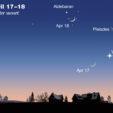 Moon + Venus on April 17-18