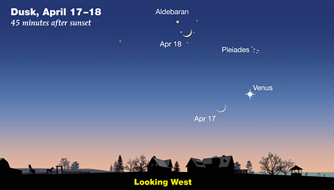 Moon + Venus on April 17-18