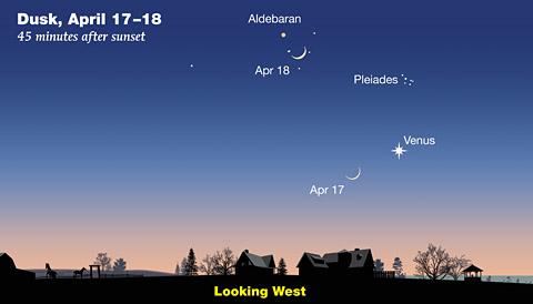 tour april's sky: venus ascending sky & telescope