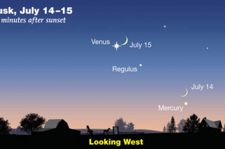 Moon-Venus-Mercury on July 14-15