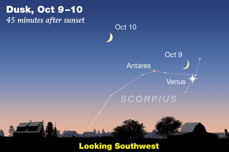 Moon-Venus Oct 9-10 2021