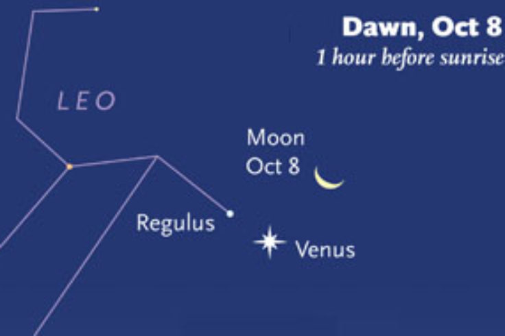 Moon-Jupiter-Mars on October 9th