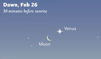 Moon and Venus on February 26th
