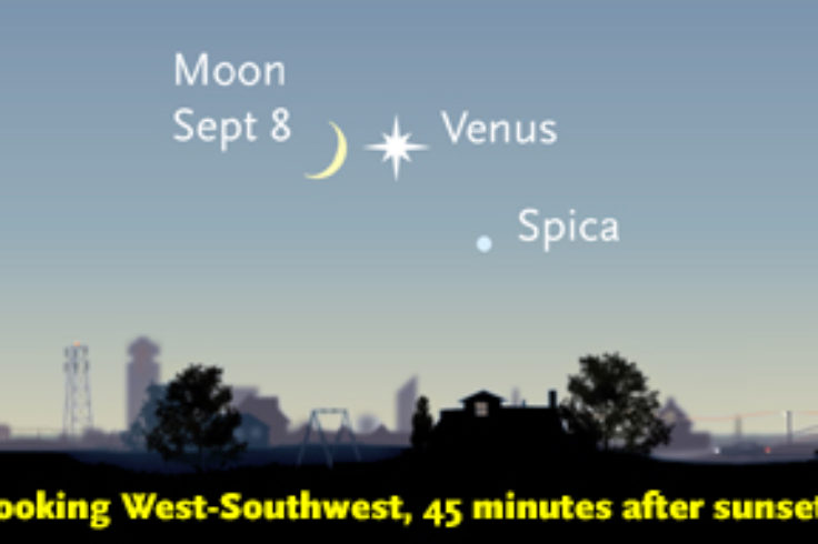 Crescent Moon and Venus on Sept. 8th