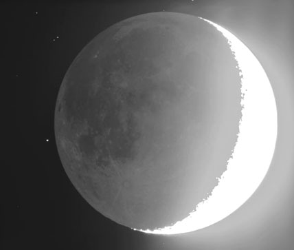 Moon about to occult Merope