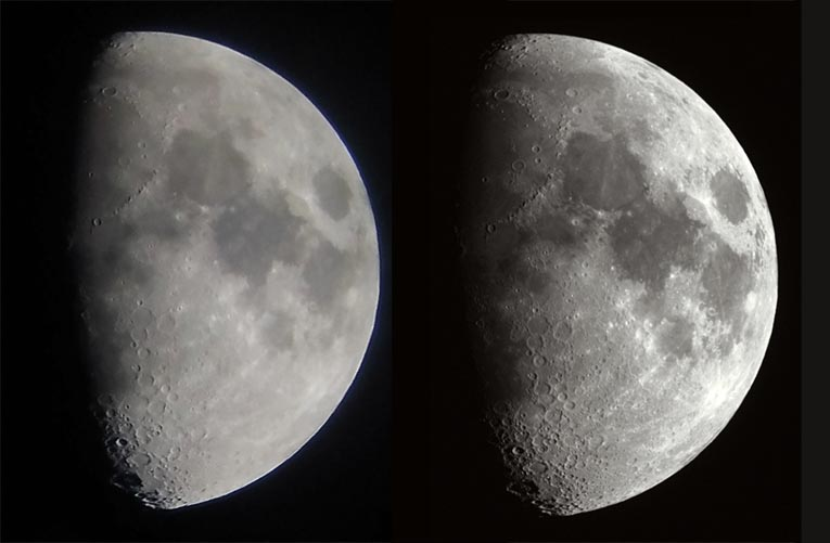 Moon imaging comparison