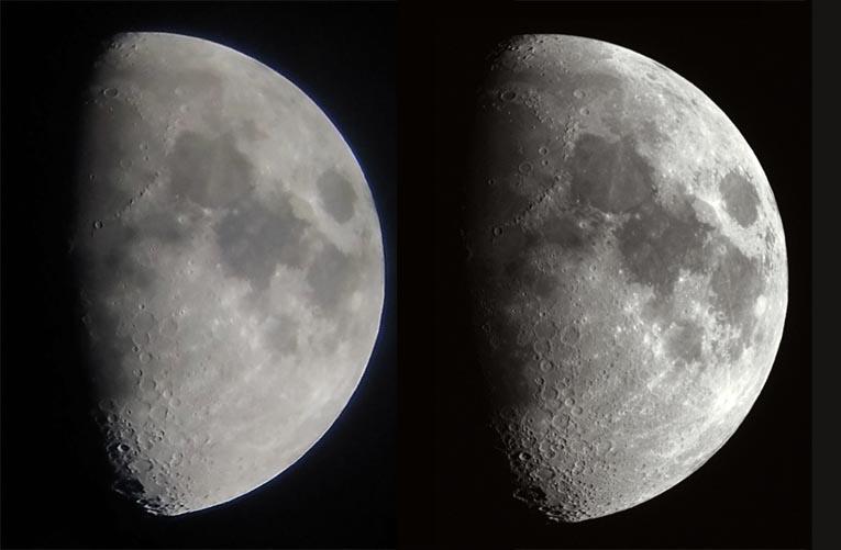 Moon imaging comparison
