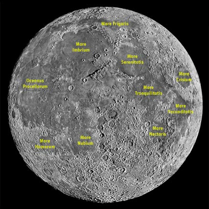 Labeled Moon map