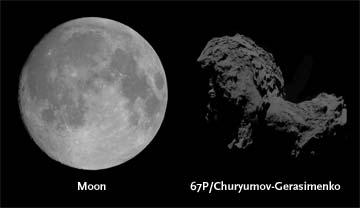 How dark is a comet's nucleus?