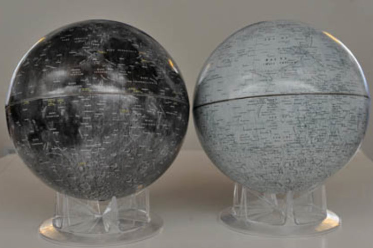 Lunar globes compared