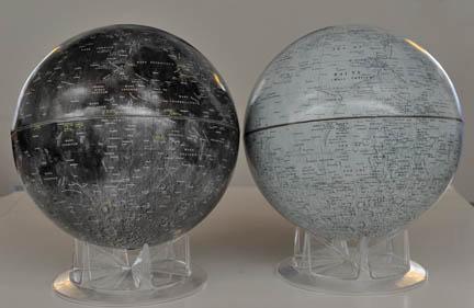 Lunar globes compared