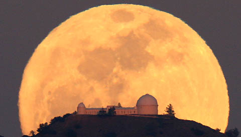 Full Moon at Lick Observatory