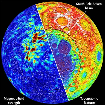 Magnetic anomalies on the Moon's far side