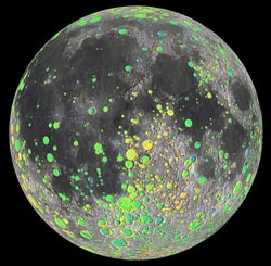 20-km craters on the Moon