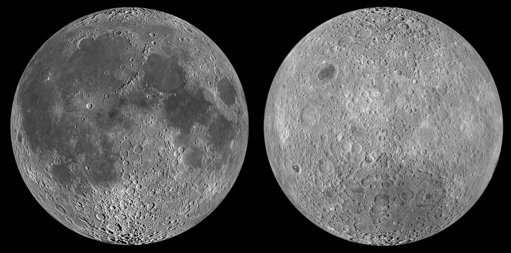 The Moon's two hemispheres