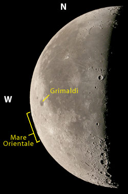 Mare Orientale on the western lunar limb