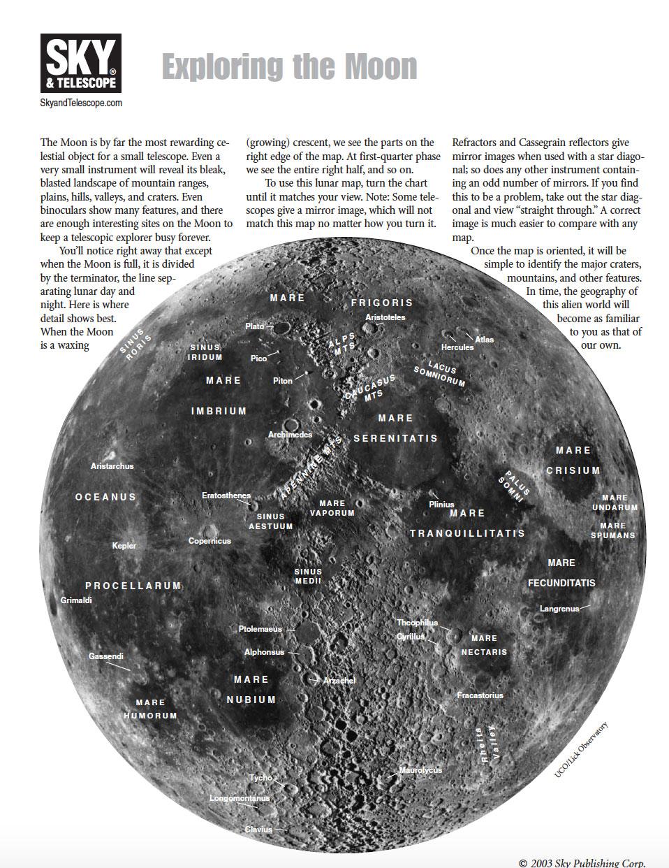 Free Moon Map