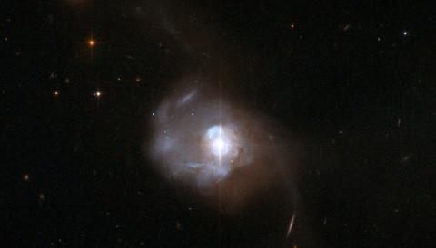 Markarian 231 is a nearby galaxy hosting an active galactic nucleus. NASA / ESA