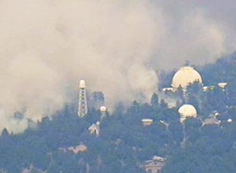 Control fires atop Mount Wilson