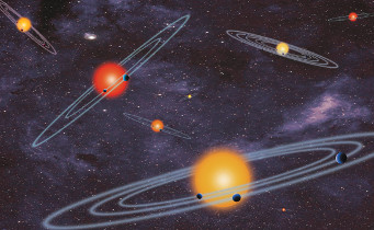 An artist's conception of multiple-transiting planet systems. NASA