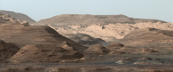 Murray Buttes and Mount Sharp