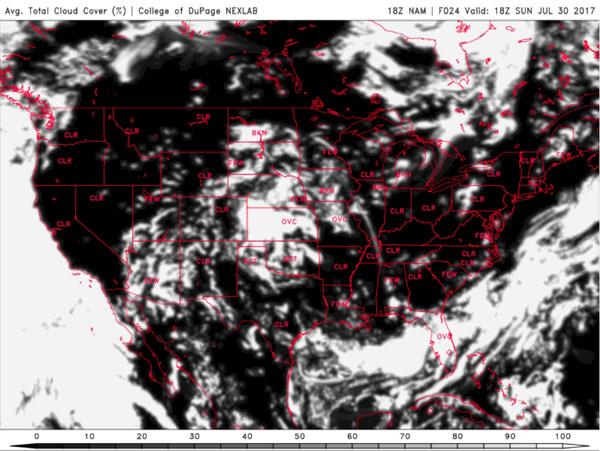 NAM Weather Model Forecast