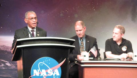 NASA administrator Bolden at New Horizons