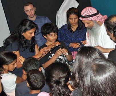 NEAF guest Hasan Ahmad al Hariri teaching amateur astronomy in Dubai.