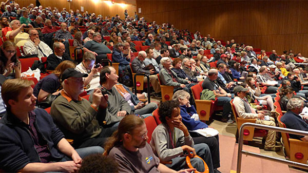 A well-attended lecture (Courtesy Rockland Astronomy Club)