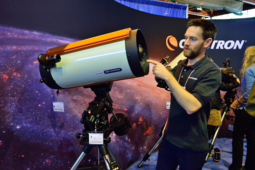 Bryan Cogdell with Celestron telescope
