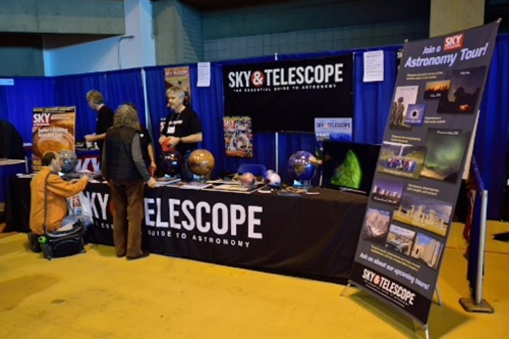 Sky & Telescope booth, NEAF 2017
