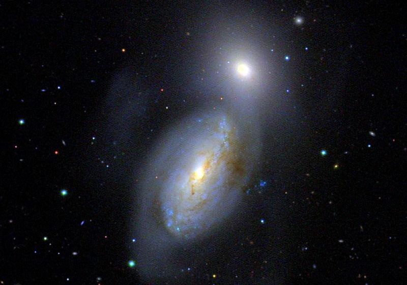 Interacting galaxies NGC 3226-3227