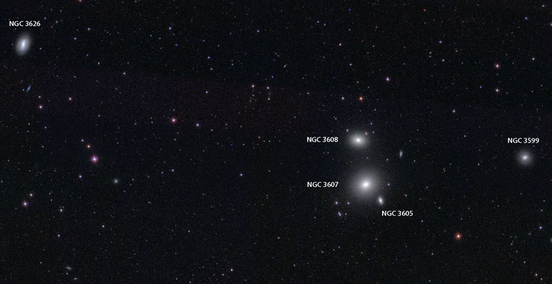 """NGC 3607 """"Eyes"""""""