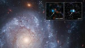 supernovae 2012Z in spiral galaxy