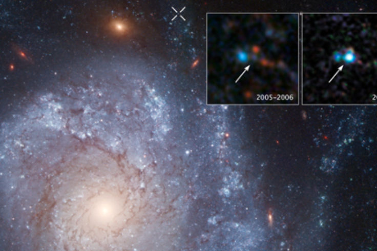 supernovae 2012Z in spiral galaxy